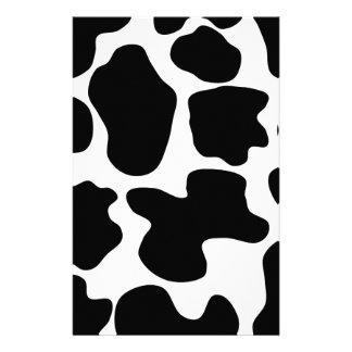 Motif d'impression de vache papier à lettre personnalisé