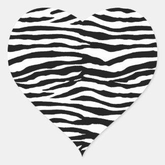 Motif d'impression de zèbre sticker cœur