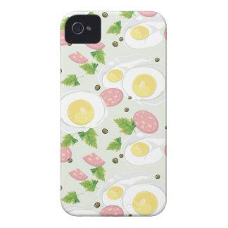 Motif d'oeufs et de saucisse coque Case-Mate iPhone 4