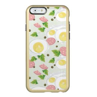 Motif d'oeufs et de saucisse coque iPhone 6 incipio feather® shine