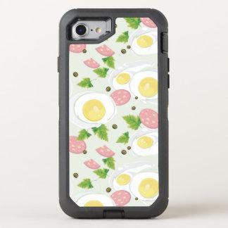 Motif d'oeufs et de saucisse coque otterbox defender pour iPhone 7