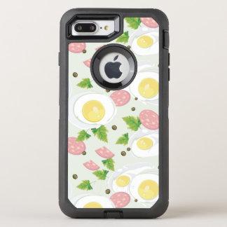 Motif d'oeufs et de saucisse coque otterbox defender pour iPhone 7 plus