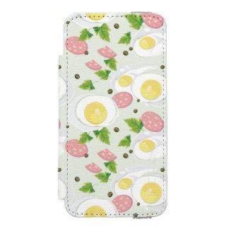 Motif d'oeufs et de saucisse coque-portefeuille iPhone 5 incipio watson™