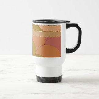 Motif d'or de cercles mug de voyage