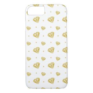 Motif d'or de diamant coque iPhone 7