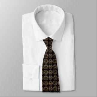 Motif d'or d'insigne de sapeur-pompier cravates