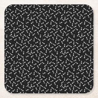 Motif d'os de poissons dessous-de-verre carré en papier