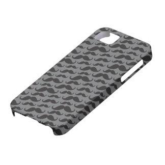 Motif drôle à la mode gris et noir de moustache coque iPhone 5 Case-Mate