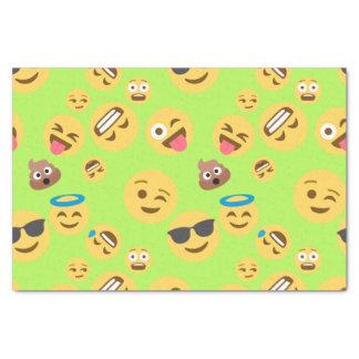Motif drôle d'Emoji (vert) Papier Mousseline