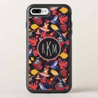 Motif du monogramme des grenouilles | d'amants coque otterbox symmetry pour iPhone 7 plus
