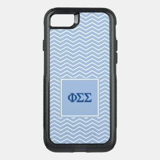 Motif du sigma | Chevron de sigma de phi Coque OtterBox Commuter iPhone 8/7