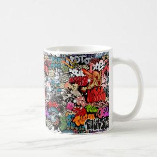 Motif dynamique urbain d'art de graffiti d'art de mug
