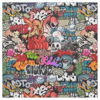 Motif dynamique urbain d'art de graffiti d'art de tissu