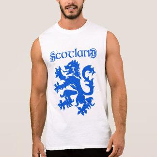 Motif effréné de lion de l'Ecosse T-shirt Sans Manches