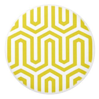 Motif égyptien de Deco - or et blanc de moutarde