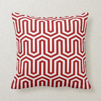 Motif égyptien de Deco - rouge et blanc Coussin