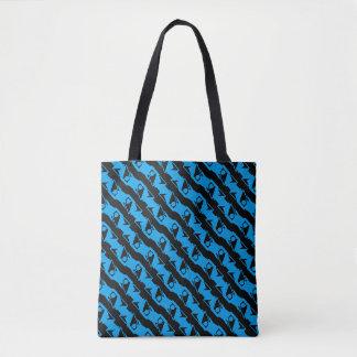 Motif élégant bleu noir et azuré unique et frais tote bag
