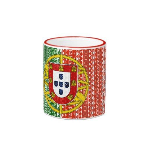 Motif élégant de drapeau aztèque frais du Portugal Tasse À Café