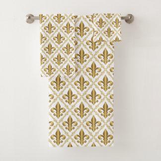 Motif élégant de Fleur-De-Lis d'or