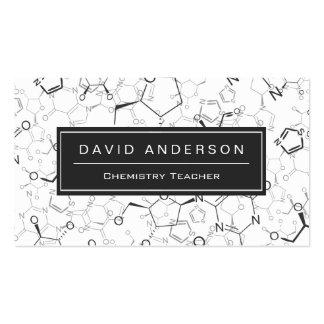 Motif élégant de formule chimique de professeur de carte de visite standard
