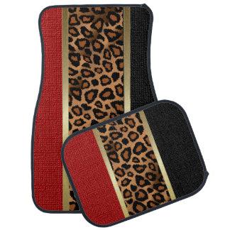 Motif élégant | de poster de animal de léopard tapis de voiture
