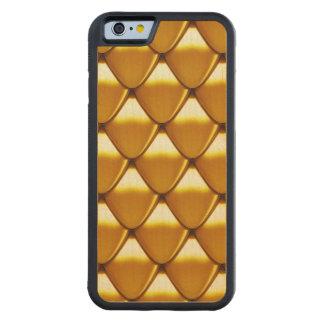 Motif élégant d'échelle d'or coque iPhone 6 bumper en érable