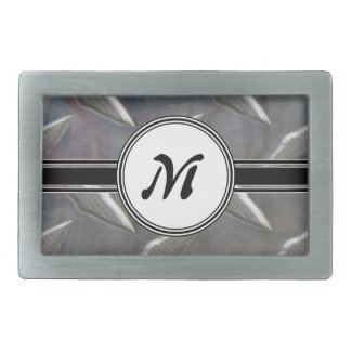 Motif en acier de monogramme en métal boucles de ceinture rectangulaires