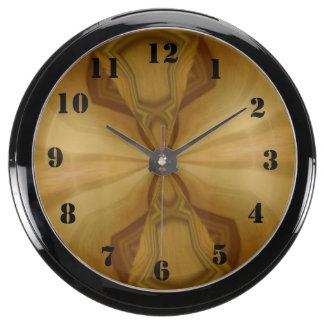 Motif en bois décoratif horloge marine