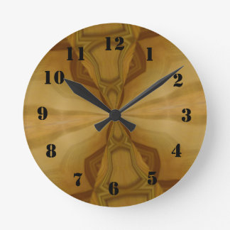 Motif en bois décoratif horloge ronde