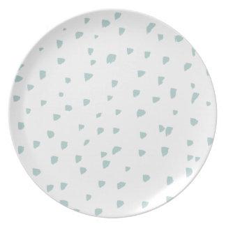 Motif en bon état simple d'abrégé sur bleu assiettes en mélamine