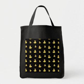 Motif en caoutchouc noir de canard sacs