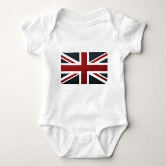 Motif en cuir Union Jack les Anglais (R-U) Fla de T-shirt