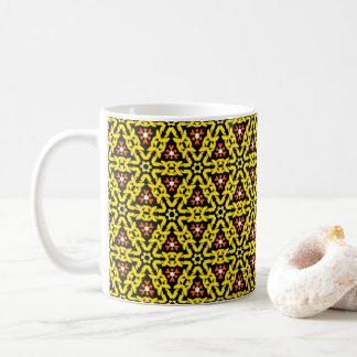 Motif en filigrane jaune et orange frais de mug