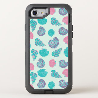Motif en pastel 1 de coquillage coque otterbox defender pour iPhone 7