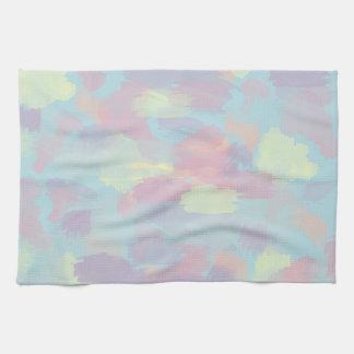 motif en pastel coloré de traçages d'été mignon linges de cuisine