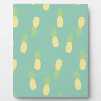 Motif en pastel d'ananas plaques d'affichage