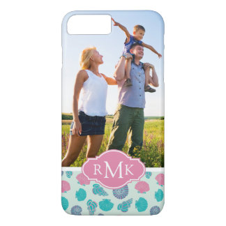 Motif en pastel | de coquillage votre photo et coque iPhone 7 plus