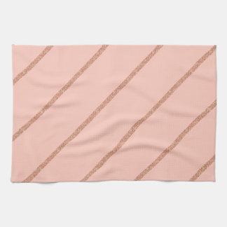 motif en pastel de rayures de pêche de serviettes éponge