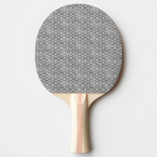 Motif en pastel de sirène noire et blanche raquette tennis de table