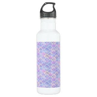 Motif en pastel de sirène pourpre d'arc-en-ciel bouteille d'eau en acier inoxydable