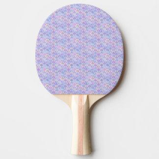 Motif en pastel de sirène pourpre d'arc-en-ciel raquette tennis de table