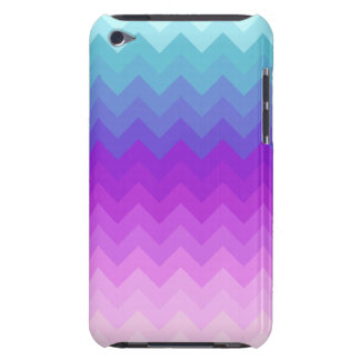 Motif en pastel d'Ombre Chevron Coques Barely There iPod
