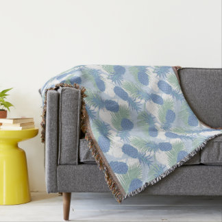 Motif en pastel tropical d'ananas couvre pied de lit