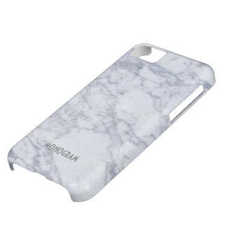 Motif en pierre de marbre gris-clair coque iPhone 5C