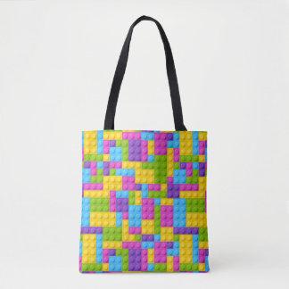 Motif en plastique de blocs de construction sac