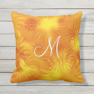 motif ensoleillé de rayons de soleil d'abrégé sur oreiller