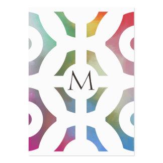 Motif et monogramme géométriques colorés cartes de visite professionnelles