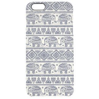 Motif ethnique bleu d'éléphant coque iPhone 6 plus