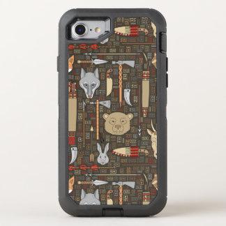 Motif ethnique de chasse coque otterbox defender pour iPhone 7