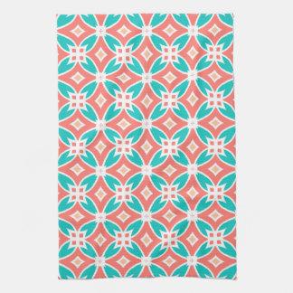 Motif ethnique multicolore serviettes éponge